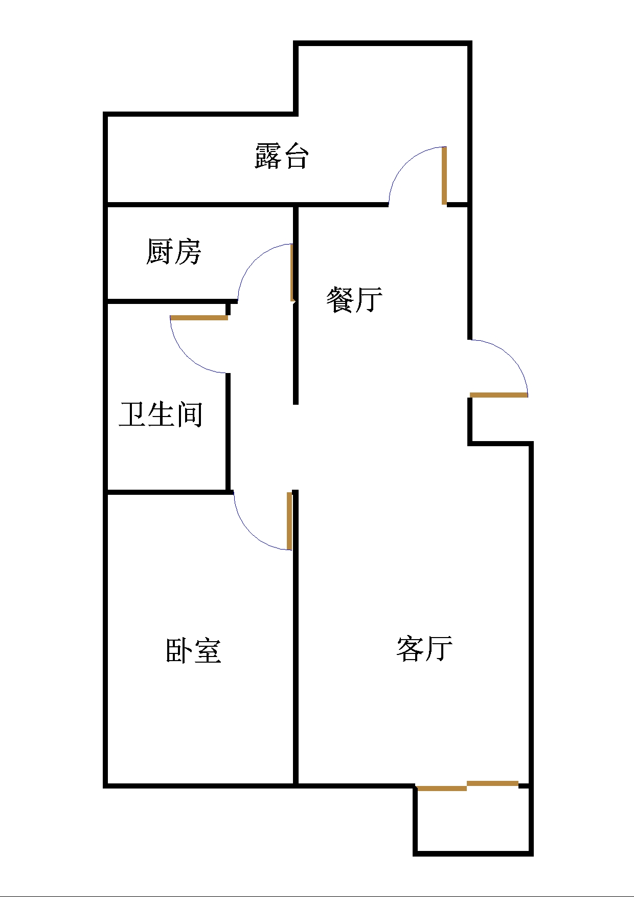 东海现代城小区 2室1厅 双证齐全 简装 42万