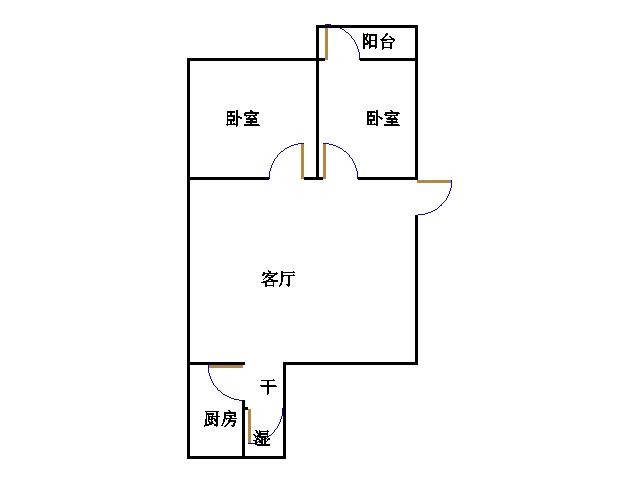 长青小区 2室1厅 过五年 简装 53万