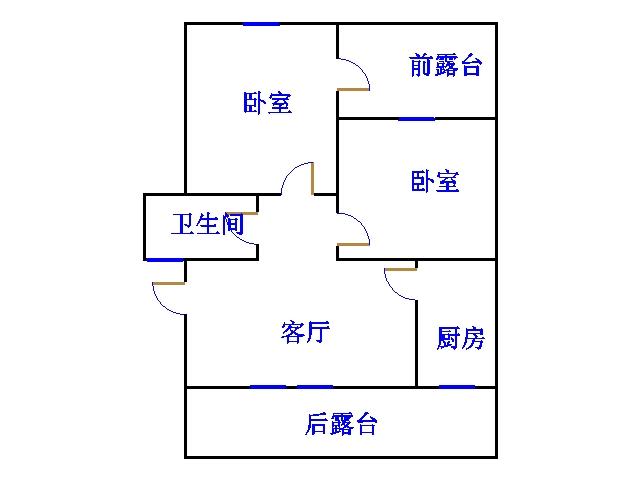 农科所宿舍 2室2厅 双证齐全 简装 49万
