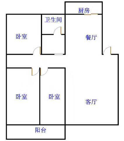 皇明宿舍小区 3室2厅 双证齐全过五年 简装 70万