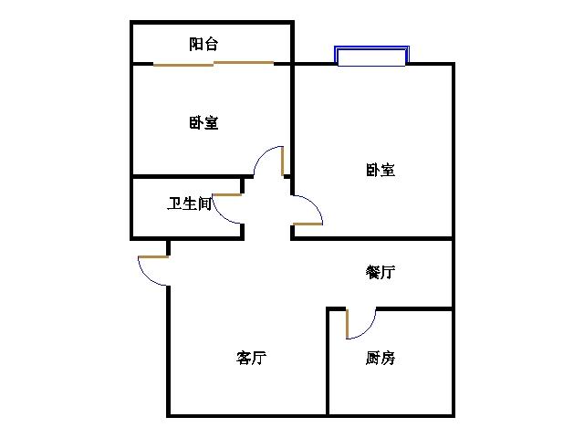 华清庄园 2室2厅 双证齐全 精装 65万