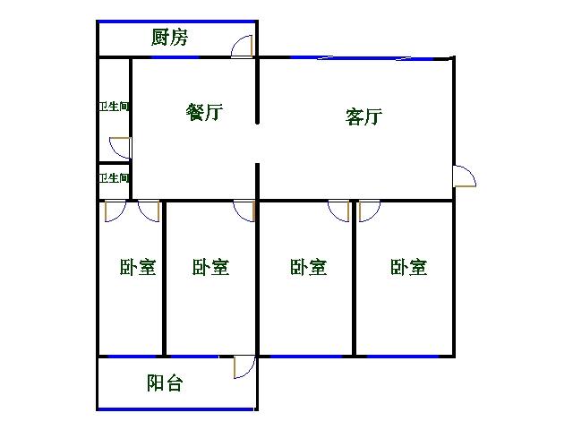 青龙潭小区 4室2厅  简装 140万