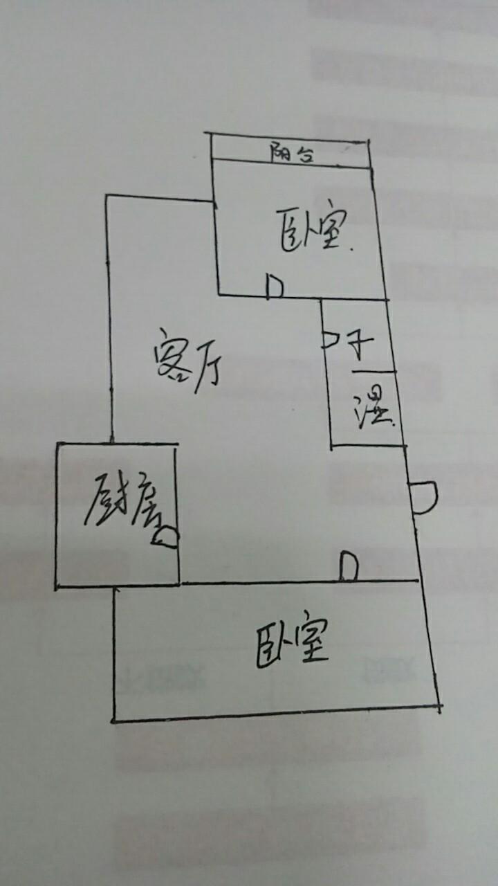 岔河小区 2室1厅  简装 80万