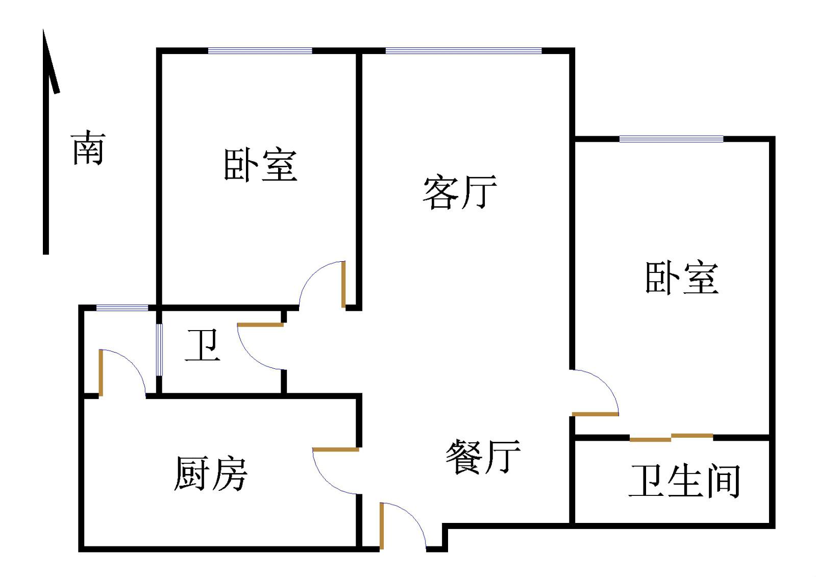 康博公馆 2室2厅 5楼