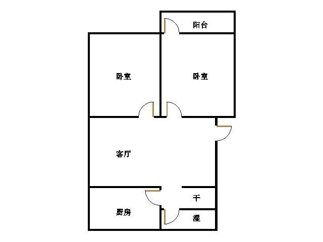 长青小区 2室2厅 6楼