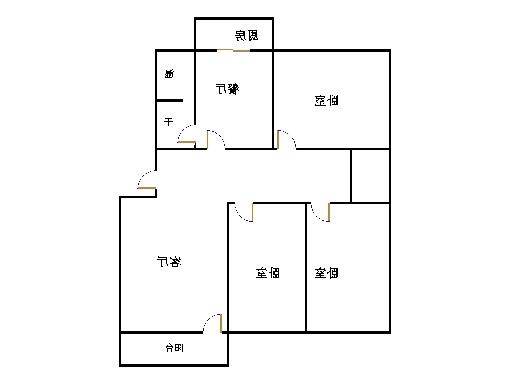 农科所宿舍 3室2厅 5楼