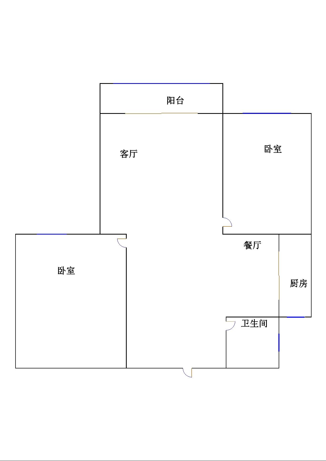 书香苑 2室2厅 12楼
