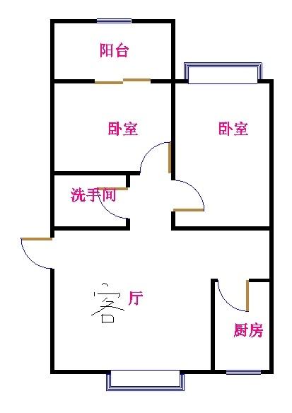 西长新村 2室2厅 4楼