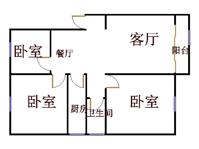 阳光花园小区 3室2厅 5楼