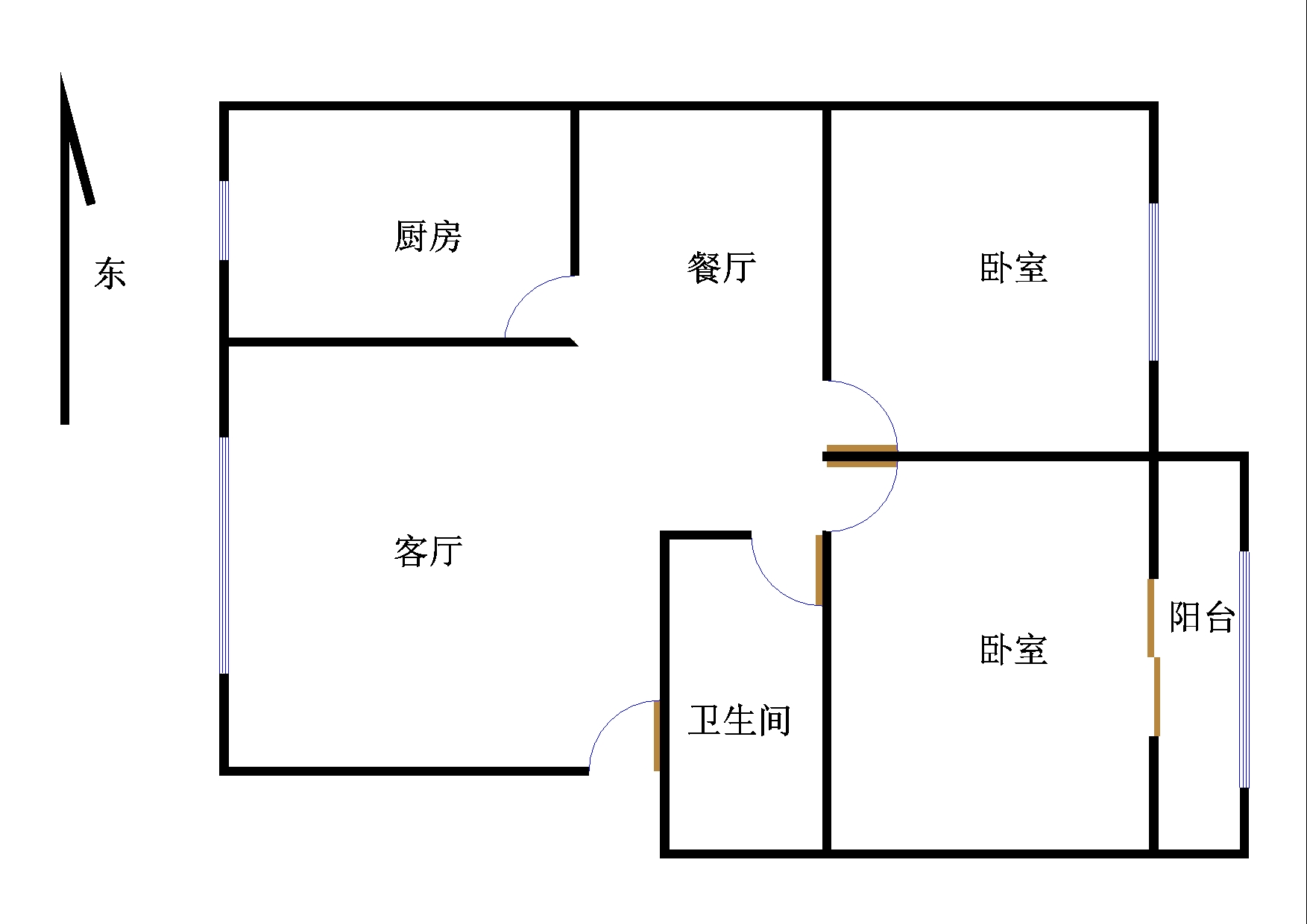 小温新区 2室2厅  简装 35万