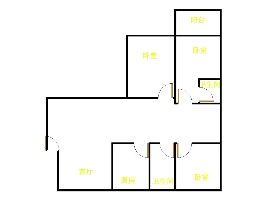 佰利金湖城 3室2厅 34楼