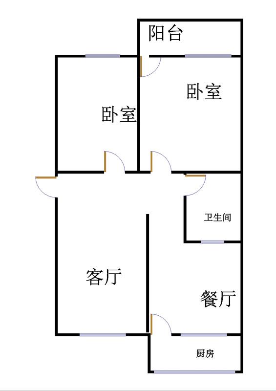 市政公司宿舍 2室1厅 3楼