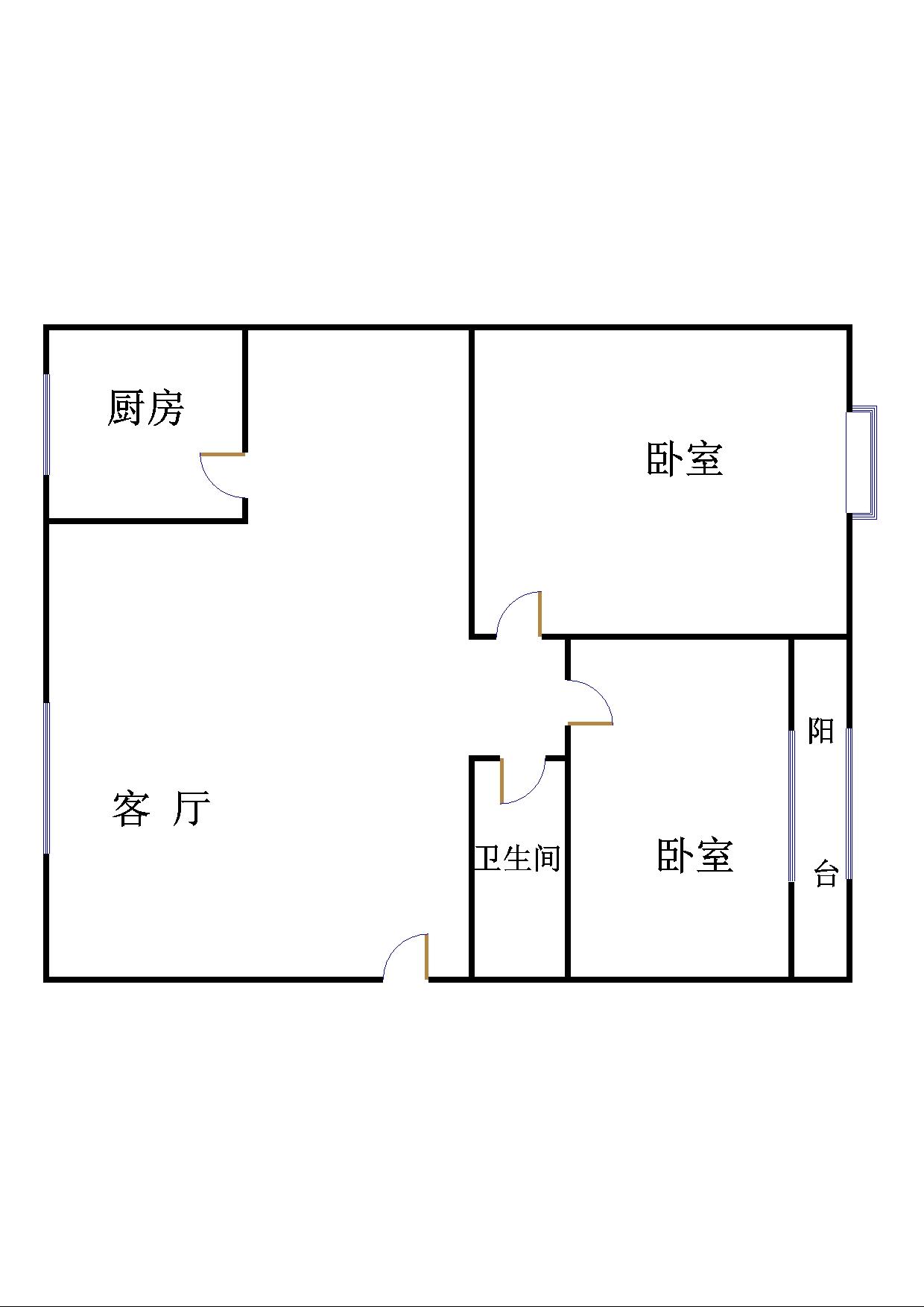 气象局宿舍 2室2厅 3楼