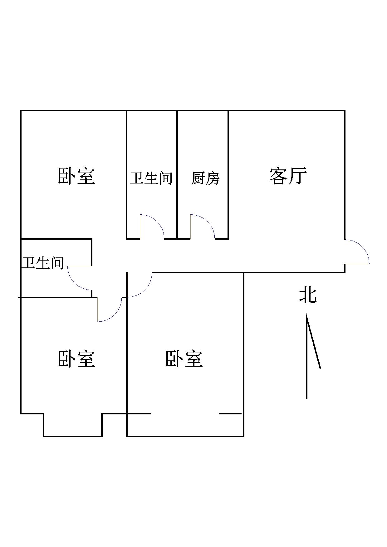 古韵大东关 3室2厅 4楼