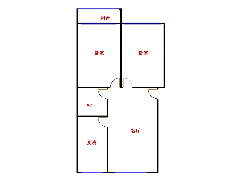 和平公寓北区 2室2厅 5楼