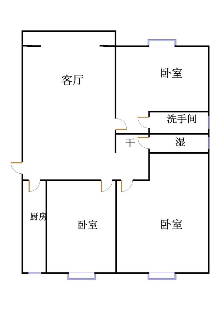 嘉城盛世 3室2厅 24楼