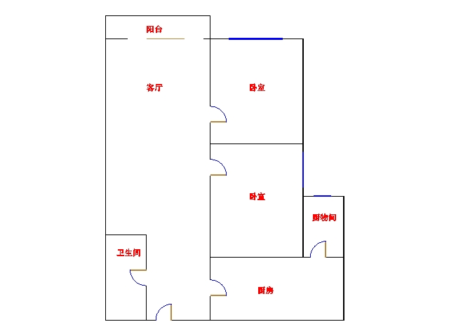 帝堡 2室2厅  毛坯 82万