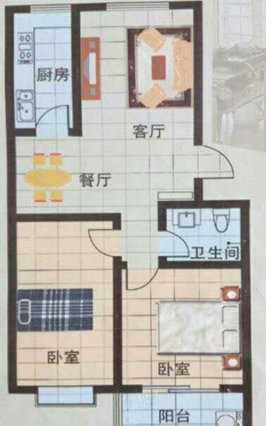 运河鑫城 2室2厅  简装 22万