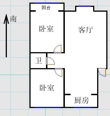金光集团宿舍 2室2厅  简装 82万