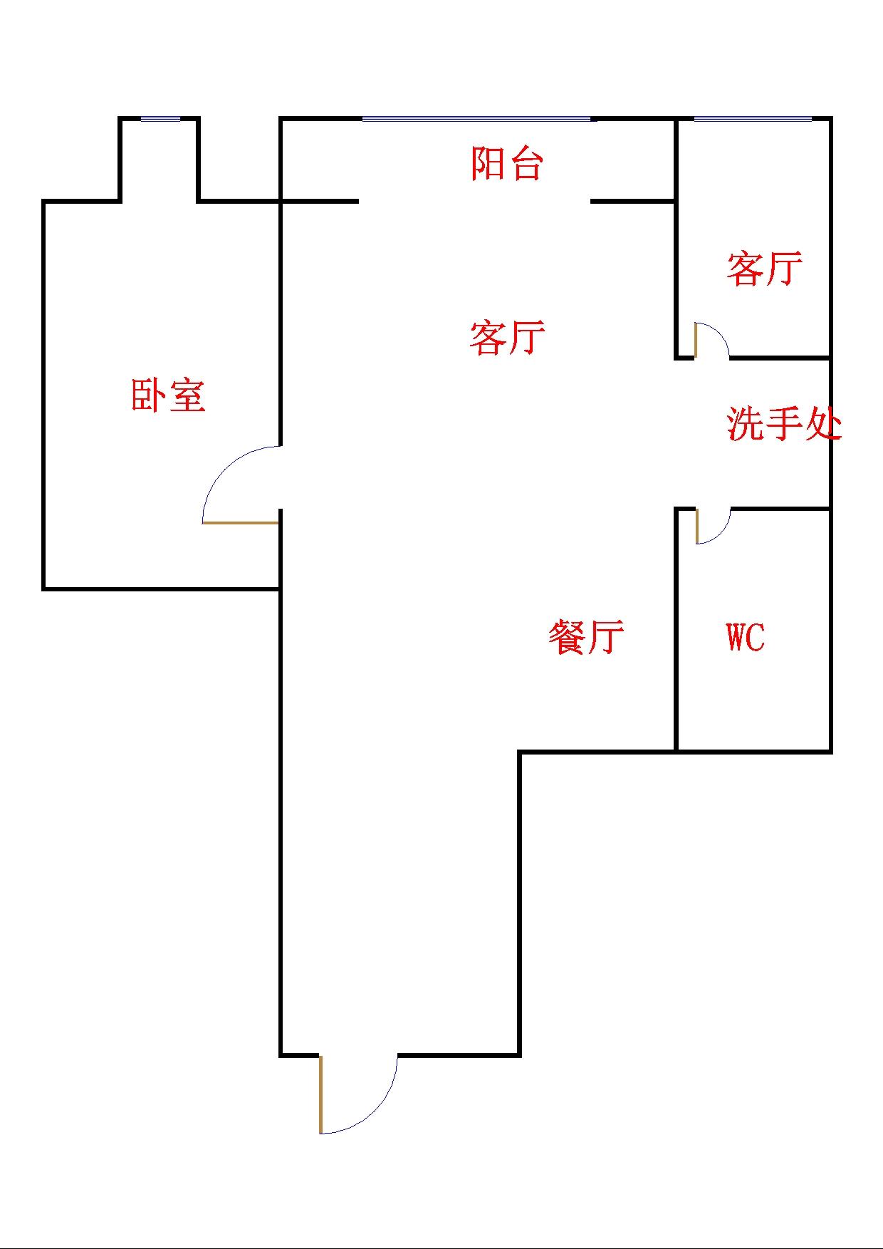 双环佳苑 1室1厅  简装 70万