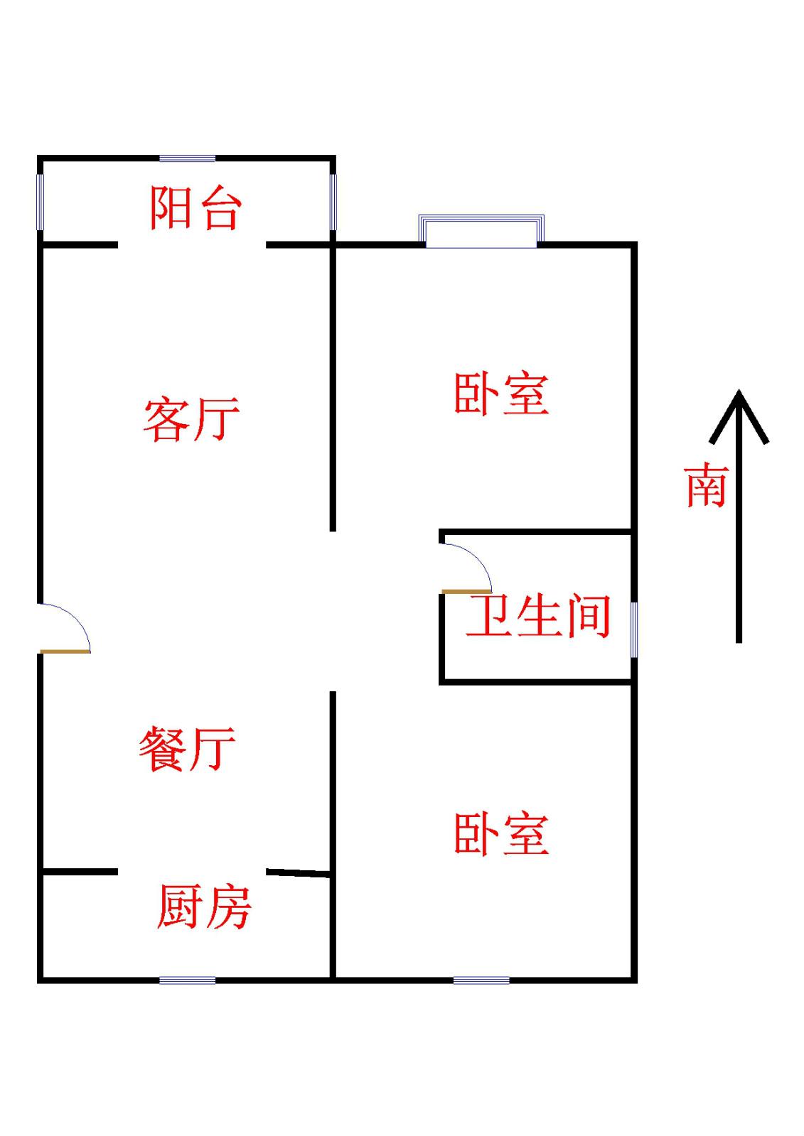 富方园小区 2室1厅  简装 32万
