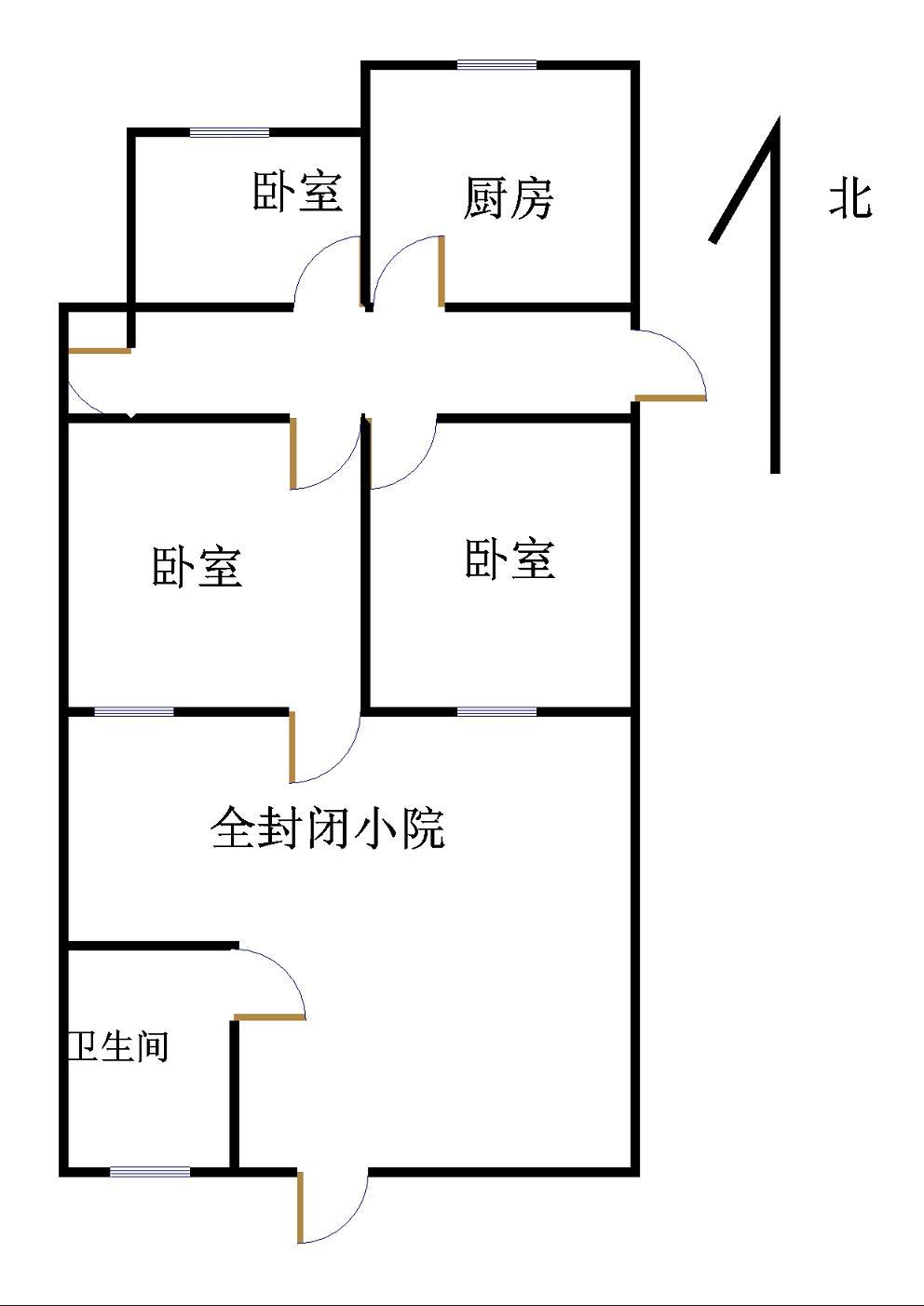 建委宿舍(园林处宿舍) 3室1厅  精装 140万