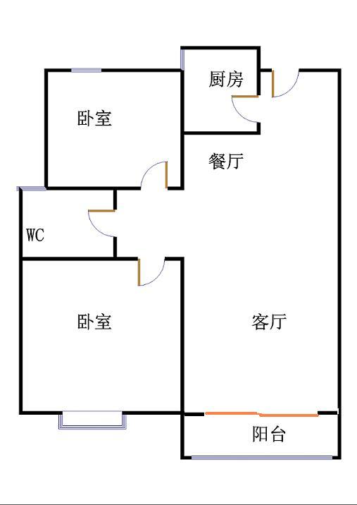 唐人中心 2室2厅  毛坯 92万