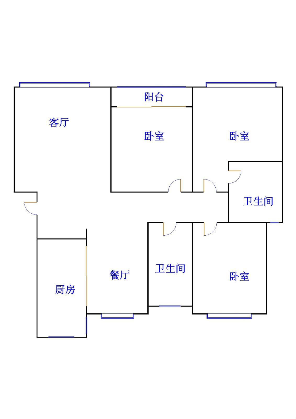 外海.江南水郡 3室2厅  简装 120万
