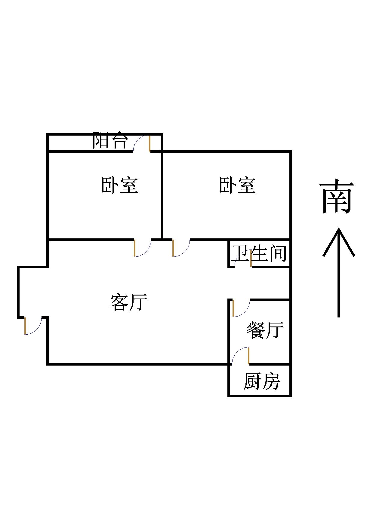 跃华中学宿舍 2室2厅 过五年 简装 53万