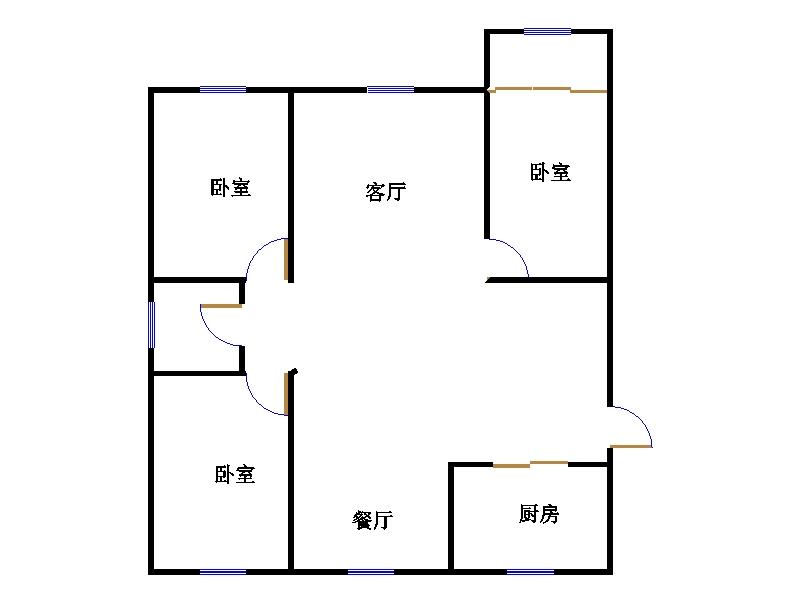 三和梅园 3室2厅  精装 70万