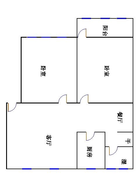 人民医院南宿舍 2室1厅 6楼