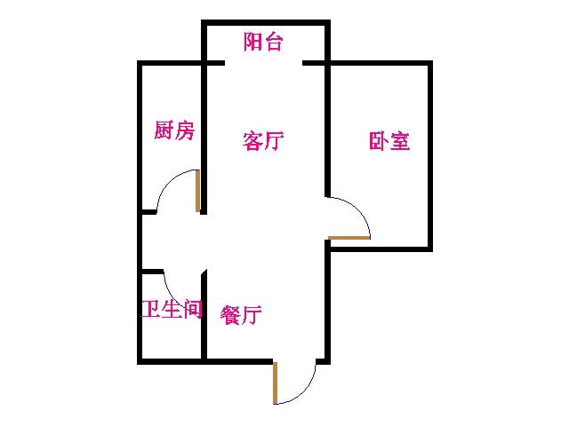 双环佳苑 1室1厅  简装 40万