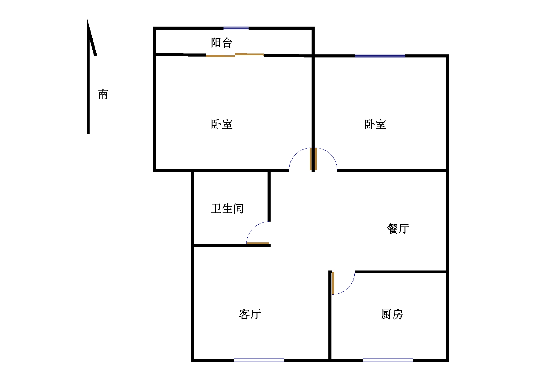 刘集社区 2室2厅  简装 33万