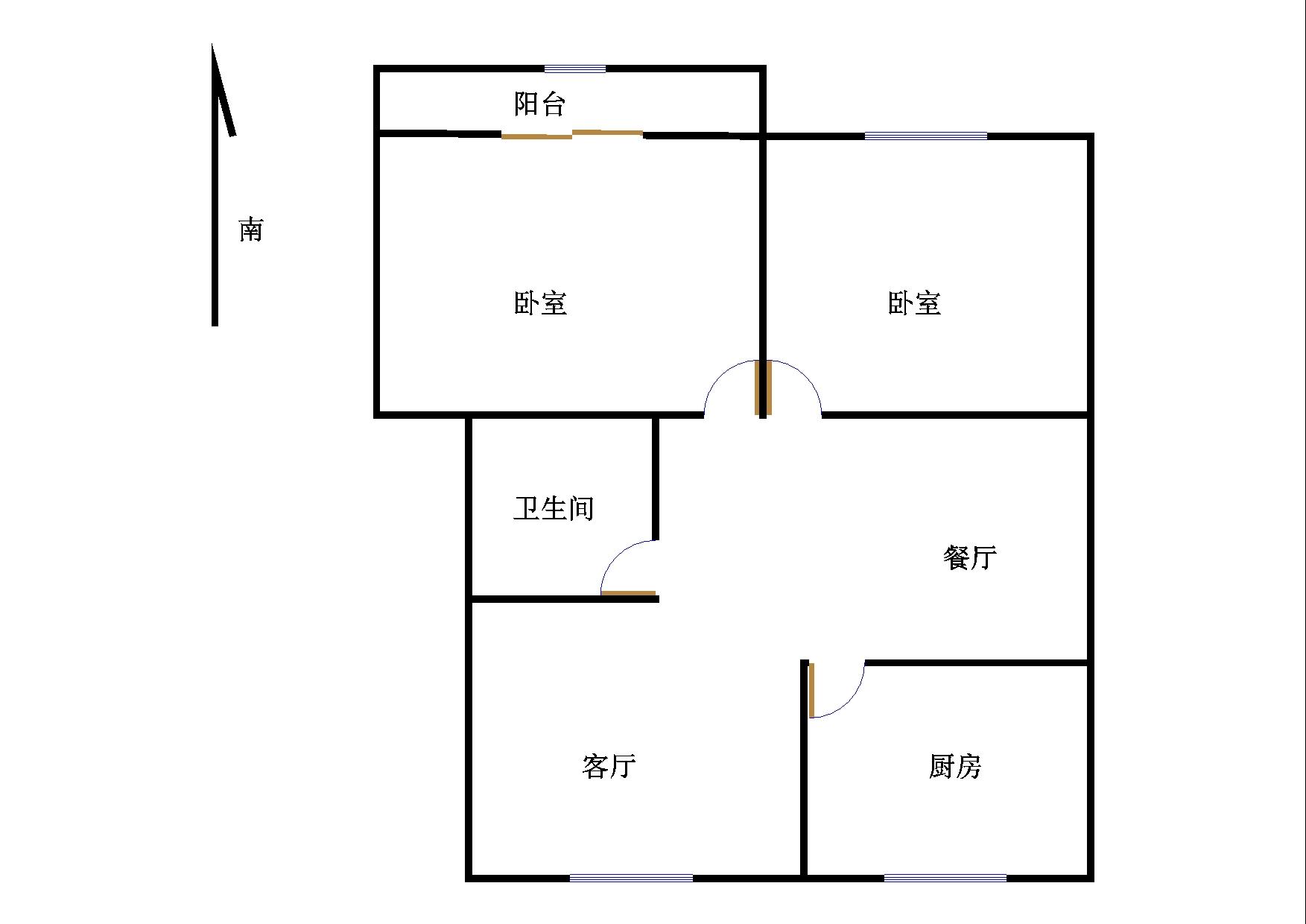 刘集社区 2室2厅 2楼