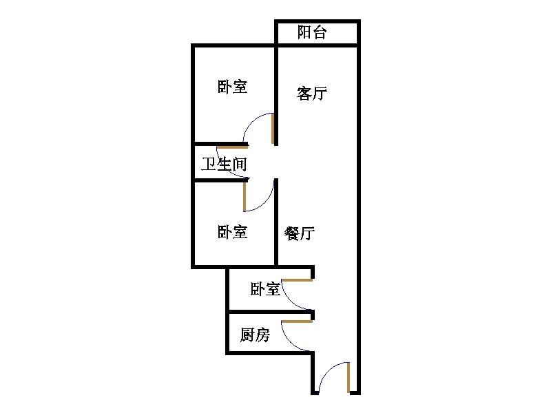 康博公馆 3室2厅 24楼