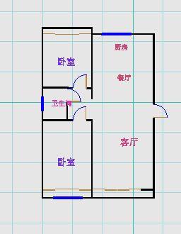 中茂家园 2室2厅 双证齐全 简装 125万