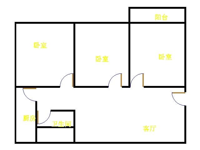 三和竹园 3室2厅  简装 35万