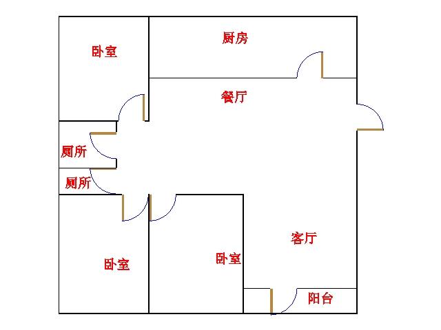 东方明珠小区 3室2厅 7楼
