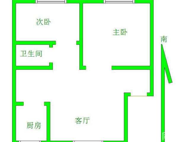 东海花园 2室2厅 双证齐全 简装 90万