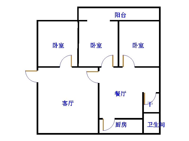新苑小区 3室2厅 6楼
