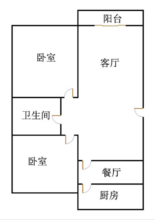 高地世纪城 2室2厅 4楼
