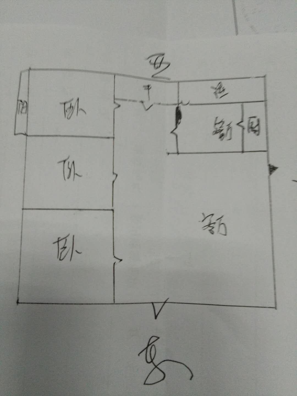 农村信用社 3室2厅  简装 85万