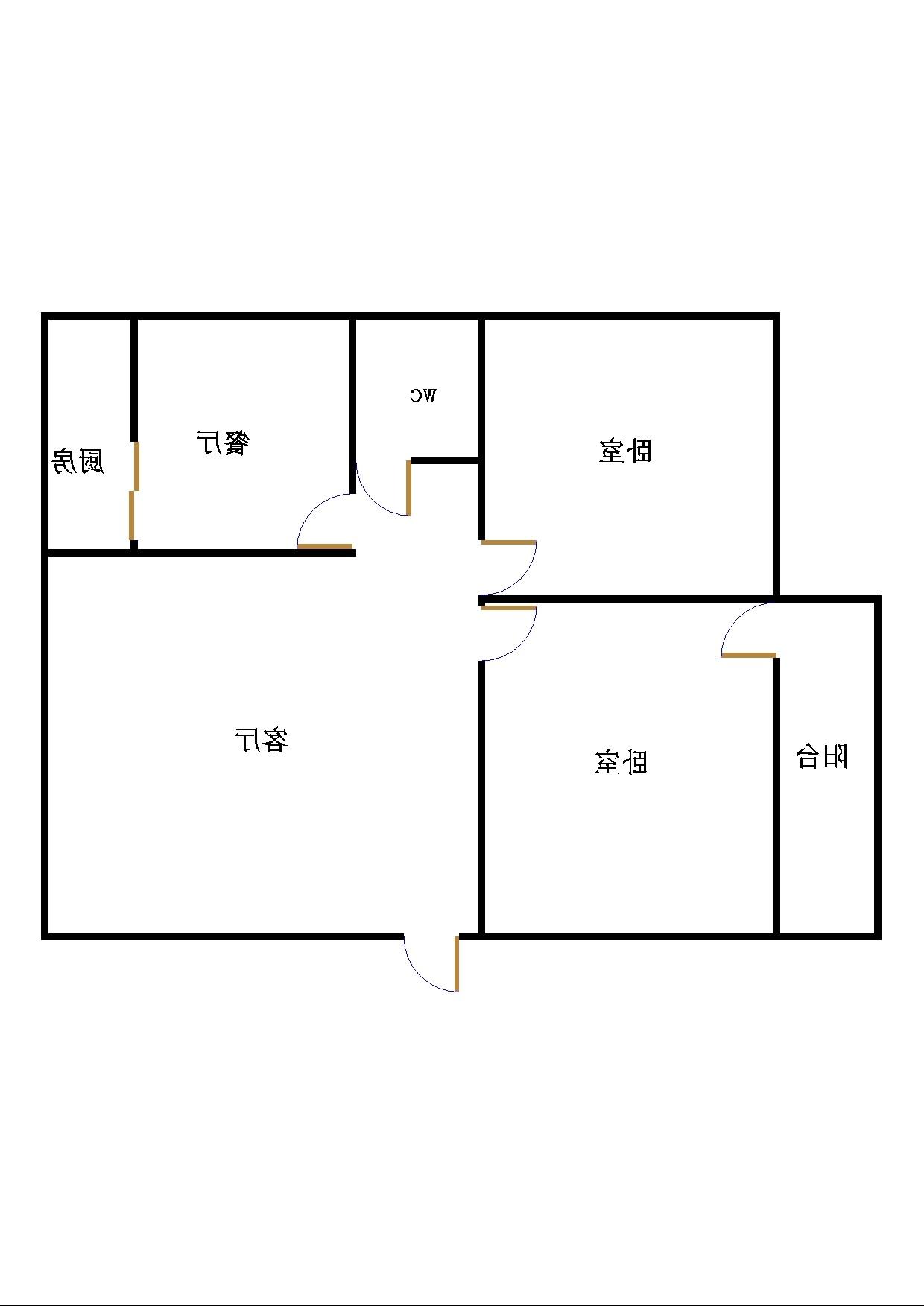 二塑宿舍 2室1厅 双证齐全过五年 简装 75万
