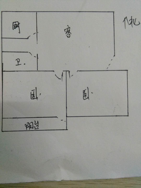 监狱宿舍 2室1厅 4楼