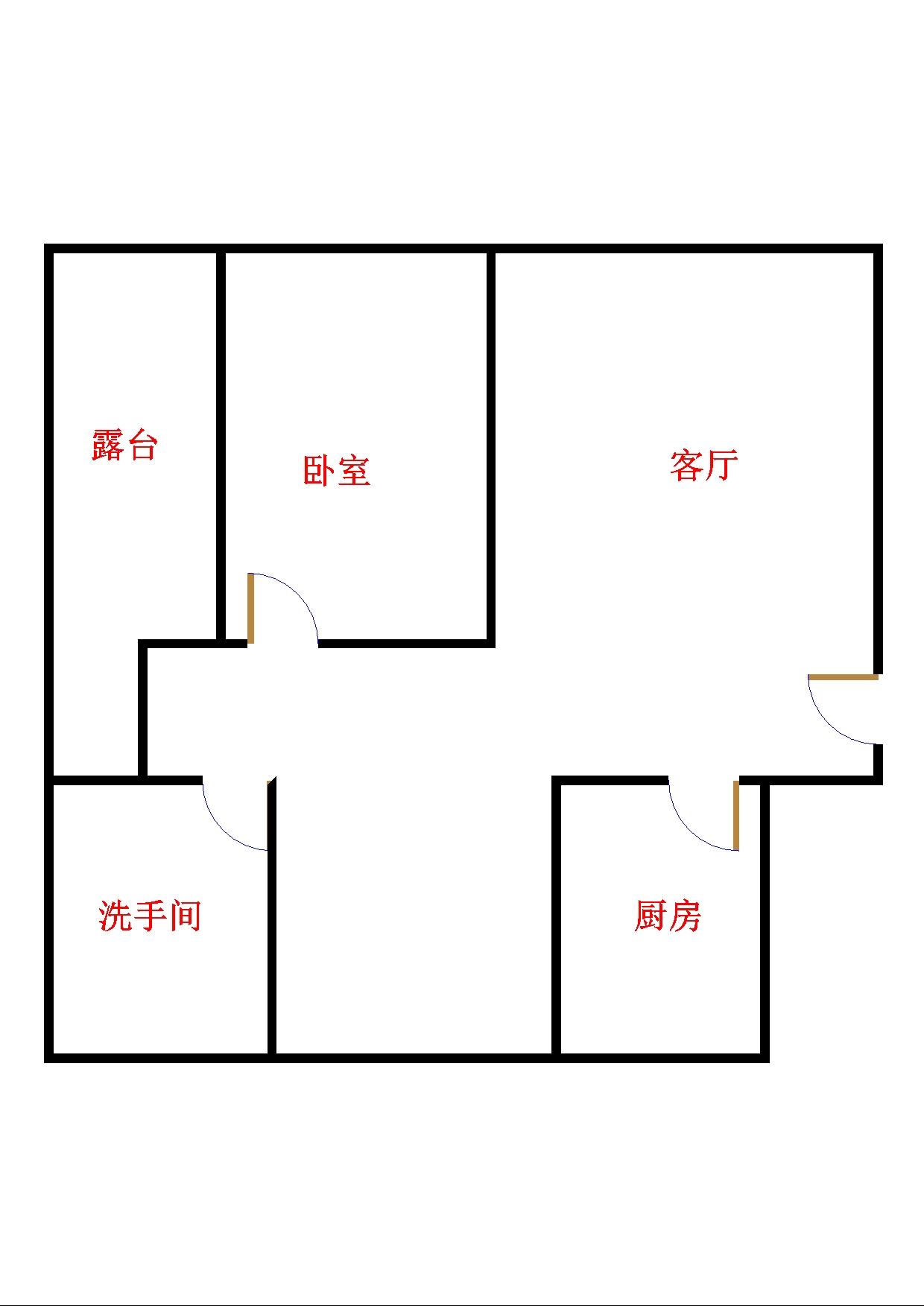 气象局宿舍 2室1厅  简装 38万