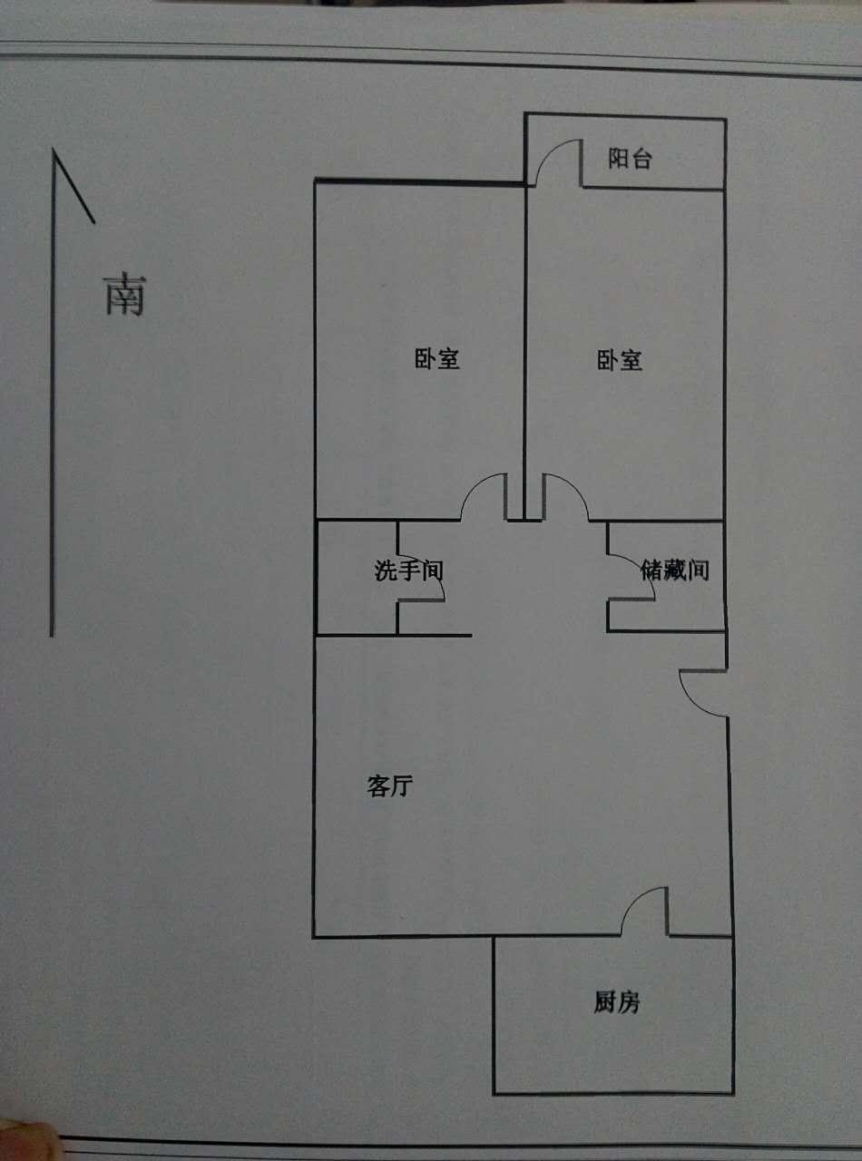 东建小区北区 2室1厅  简装 60万