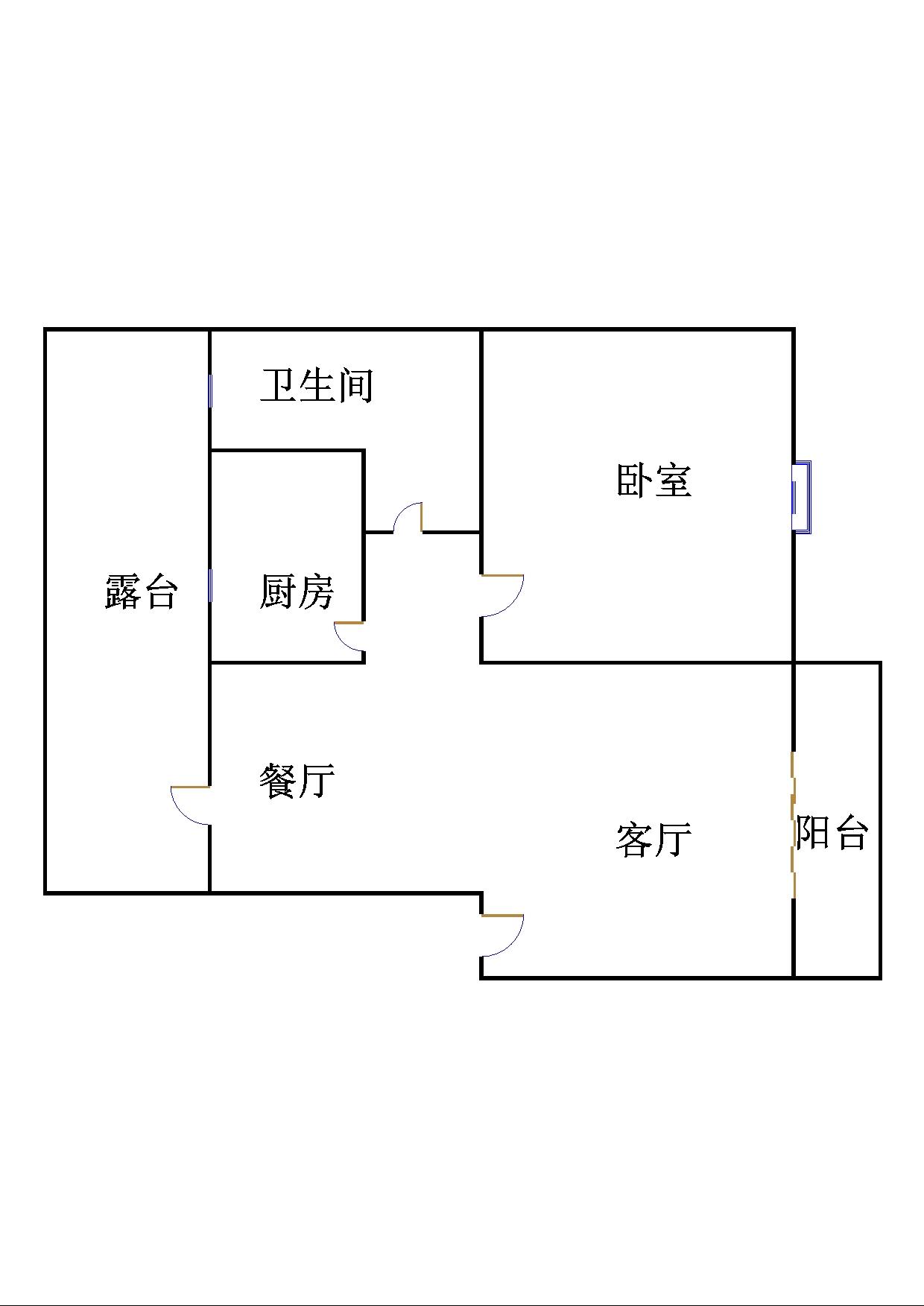 名苑小区 1室1厅 6楼