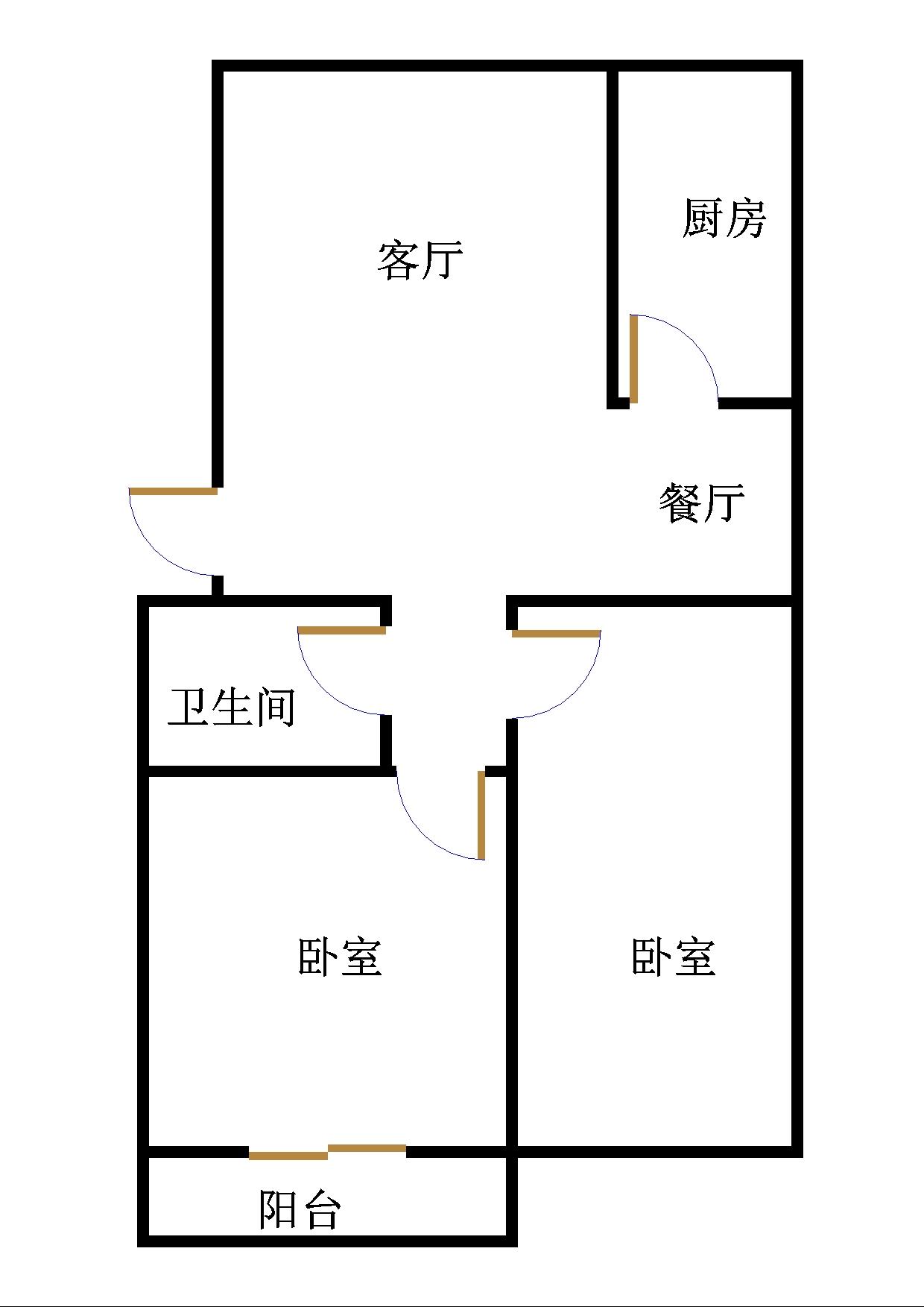 温馨家园 2室2厅 4楼
