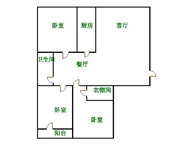 尚城国际 3室2厅 5楼