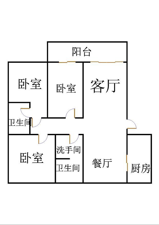 嘉城盛世 3室2厅 13楼
